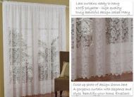 Lace IVORY Curtains 3M wide x 213cm drop MARY New