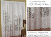 Lace IVORY Curtains 4M wide x 213cm drop MARY