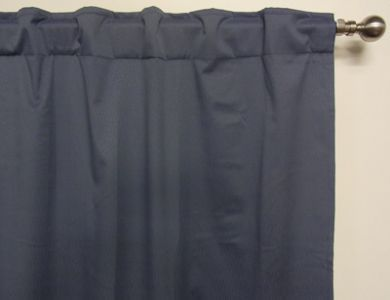 BLOCKOUT CURTAINS CONCEALED TAB TOP METAL BLUE