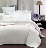 Monaco Coverlet Queen King WHITE by Linen House New