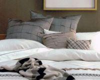 Linen House European Pillow Cases 2 x 65x65cm Faux Silk Silver Odeon