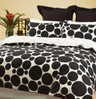 Black and White King Quilt cover set plus Euro pillowcases pebbles by DECO New
