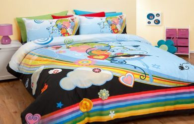 Reilly Eye Queen Quilt Doona Cover Set Official Merchandise Rainbow Funky Art