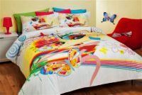 Reilly Tiger Queen Bed Quilt Cover Set Funky Art Butterfly