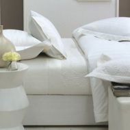 King Sheet Set RIVIERA White by Linen House 300TC New
