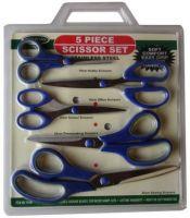 5 piece Scissor Set Stainless Steel NEW