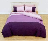 Deco Queen Bed Quilt Doona Cover Set Sheffield Plum smart urban look