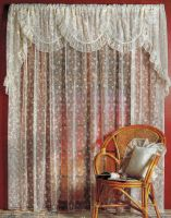 Simone Continuous Lace Curtains White or Cream Simone 3 sizes Rod Pocket