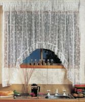 Simone Jardiniere Lace Curtain To Fit 150cm wide x 137cm drop WHITE shabby chic Made in Australia