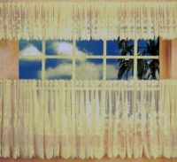Sunflower Cafe Curtain 460cm wide x 90cm drop WHITE Lace kitchen AUSTRALIAN MADE