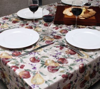 TUSCANY FRUIT TABLE CLOTH 150x300cm New
