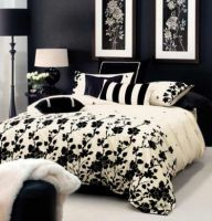 LINEN HOUSE CREAM BLACK King bed quilt cover VERONA New