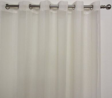 Buy Pearl Ivory Sheer Curtains | Eyelet Sheer Curtains - Action Queen